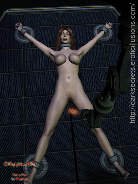 Superheroine bondage art